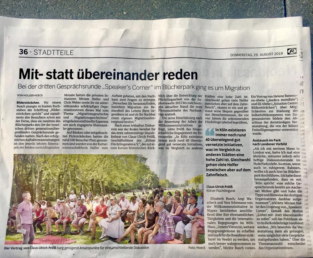 Rundschau Bericht 290819